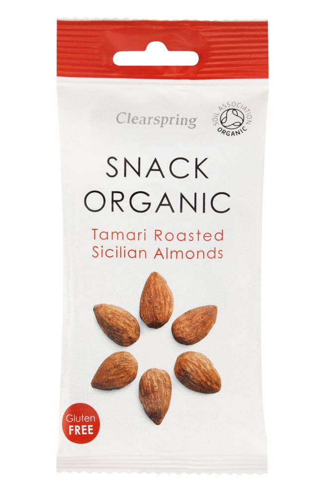 Clearspring tamari-roasted sicilian almonds