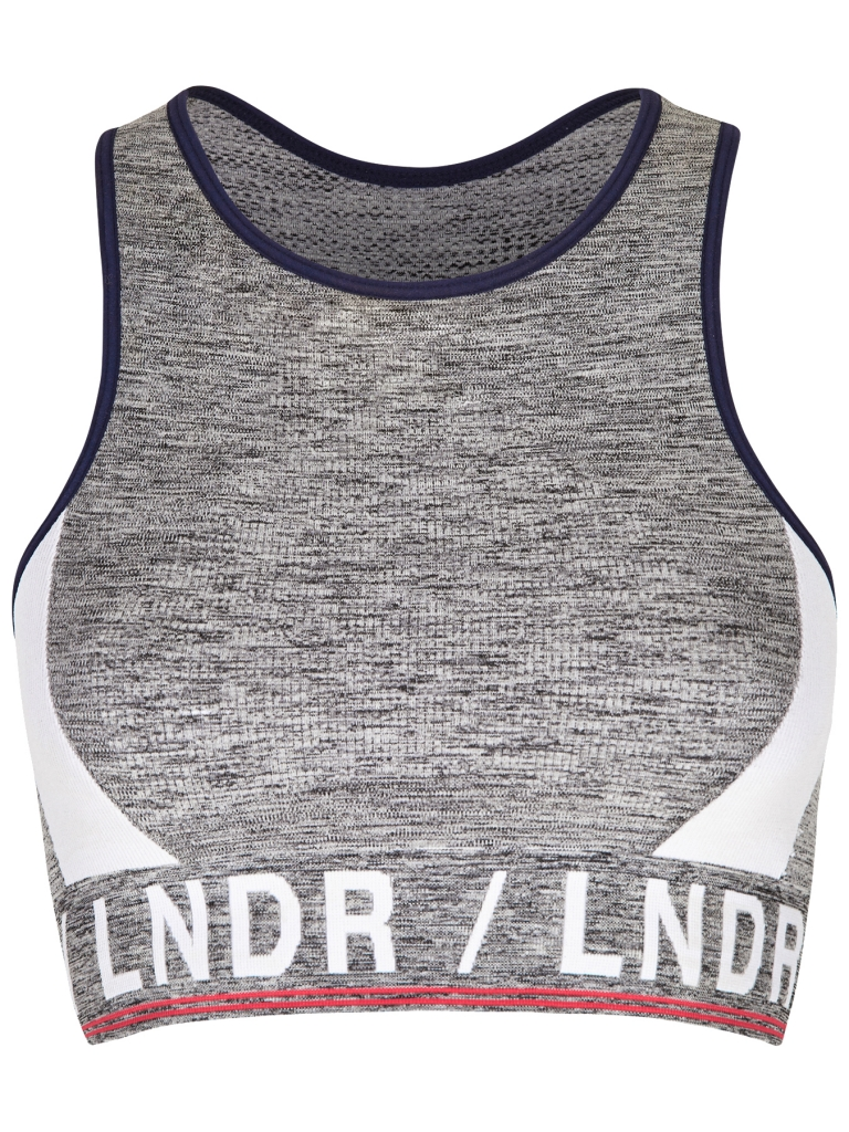 LNDR Aero Sports Bra in Grey Marl