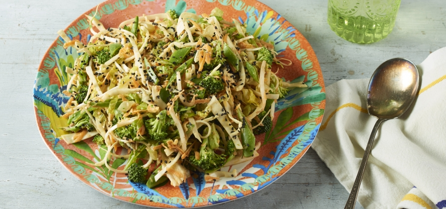 tahini asian slaw