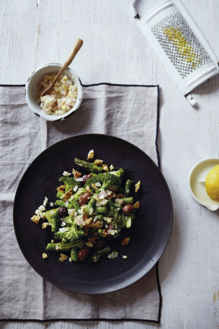 "Broccoli and Asparagus Salad. From ""Superfoods: The Flexible Approach To Eating More Superfoods"" by Julie Montagu"