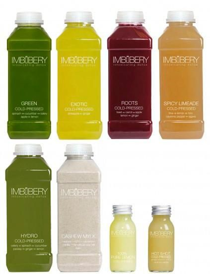 Imbibery cold-pressed juices and nut milks