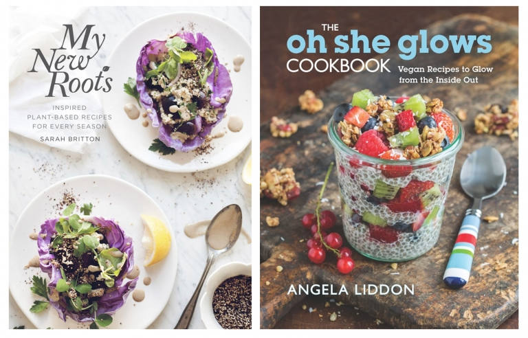My New Roots by Sarah Britton and The Oh She Glows Cookbook by Angela Liddon