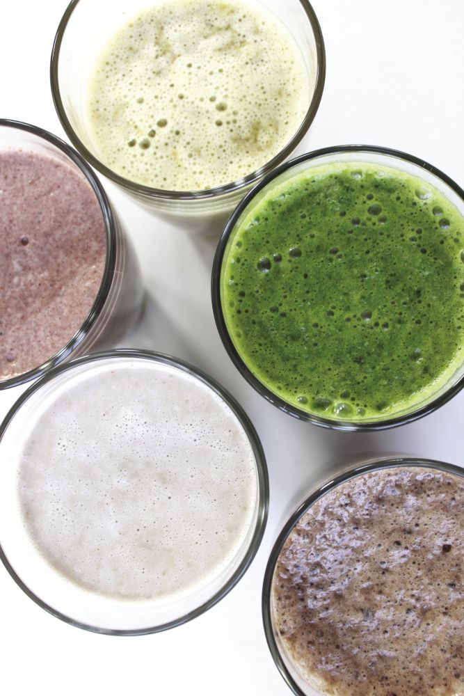 mixed smoothies