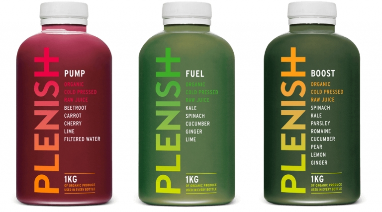 plenish cold-pressed juices