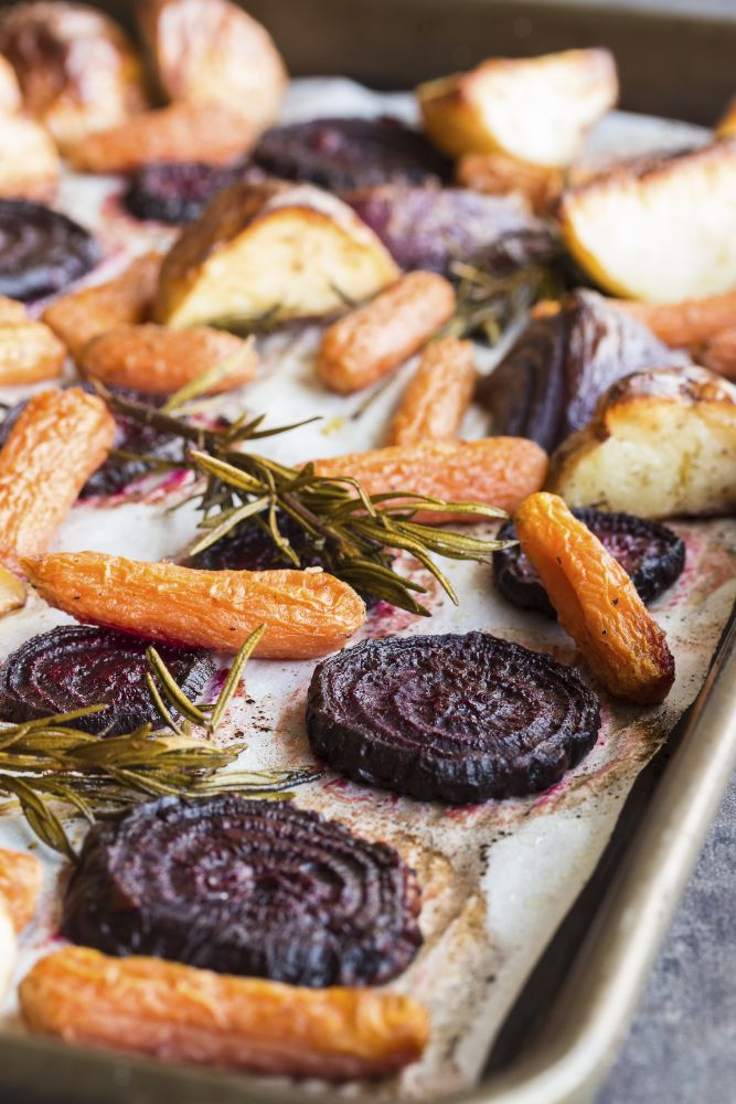 roasted vegetables - beetroot and carrot
