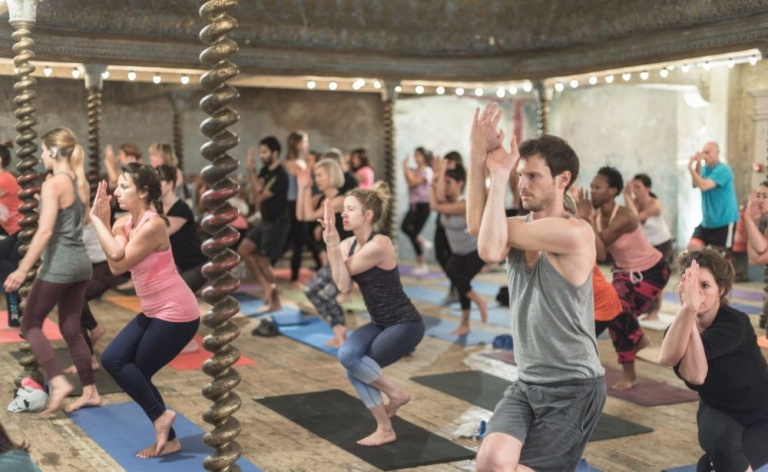 The Secret Yoga Club in London with Gabrielle