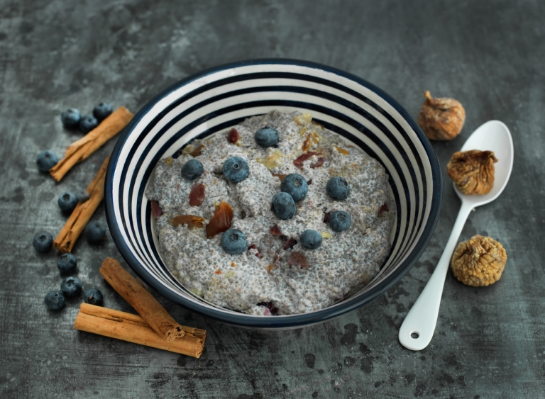 spiced chia seed pudding