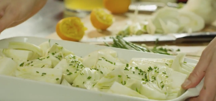 Braised fennel with orange and chives