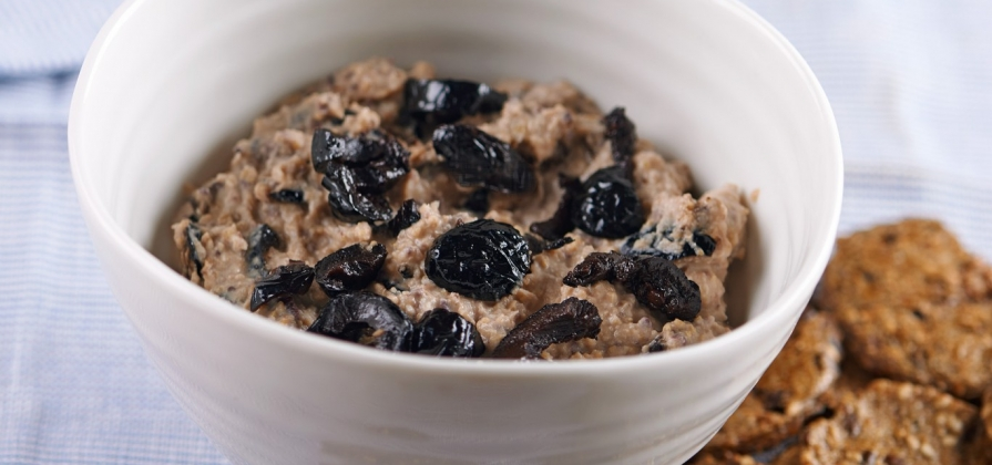 simple black olive and caper dip