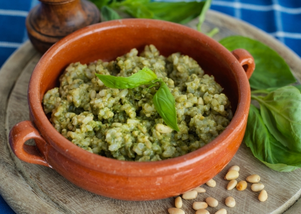 hearty green risotto