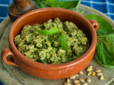 extra green brown rice risotto