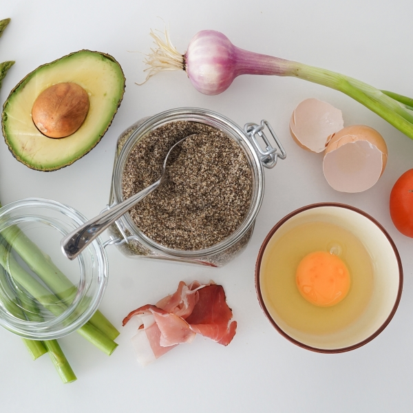 food chia seeds egg vegetables avocado