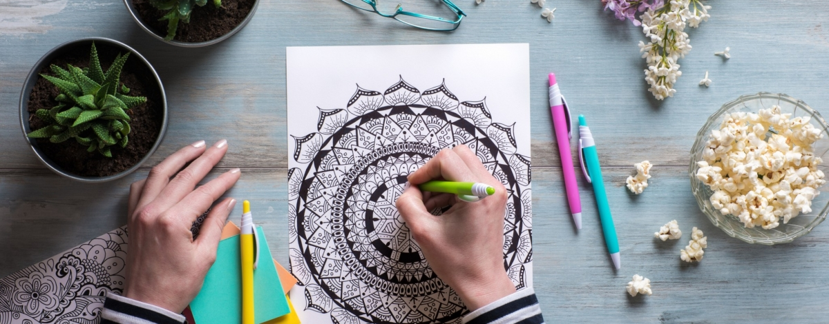 mindful colouring in