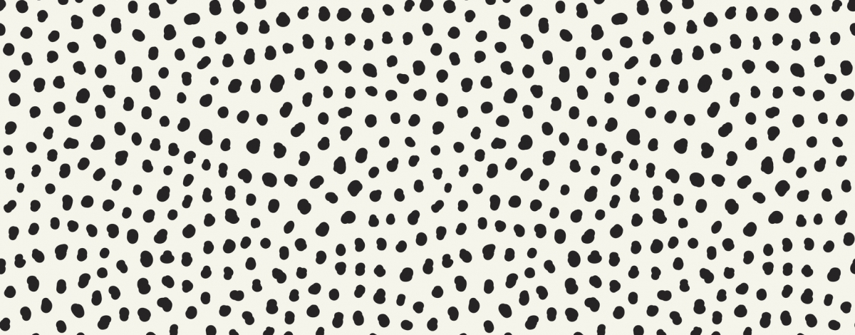 Hand drawn black dots on white background
